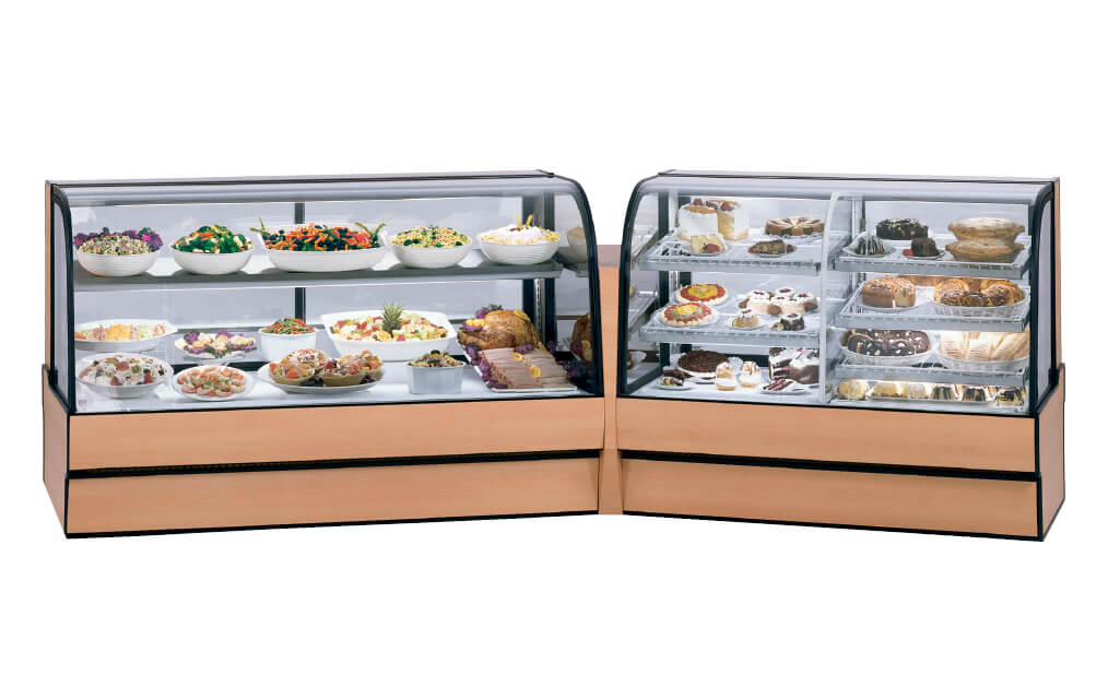 CURVED GLASS BAKERY 2 PIECE LINE UP