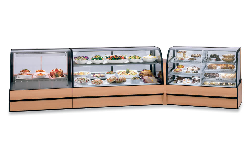 CURVED GLASS BAKERY 3 PIECE LINE UP