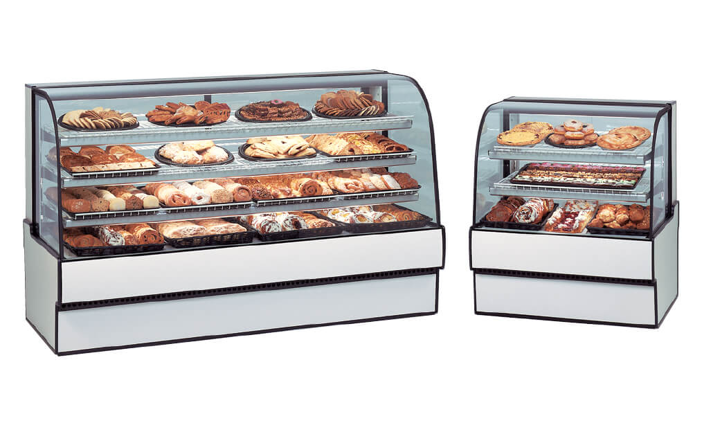 CURVED GLASS NON-REFRIGERATED BAKERY CASE CGD