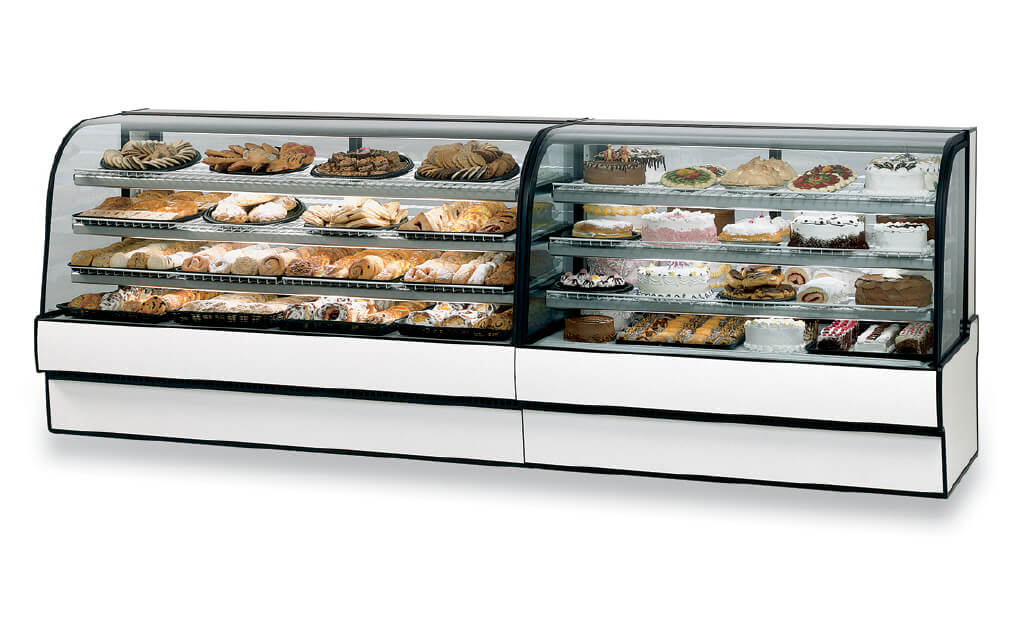 CURVED GLASS REFRIGERATED BAKERY AND DELI LINE UP