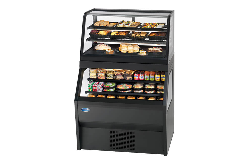 HYBRID MERCHANDISER SERVICE REFRIGERATED OVER SELF-SERVE REFRIGERATED