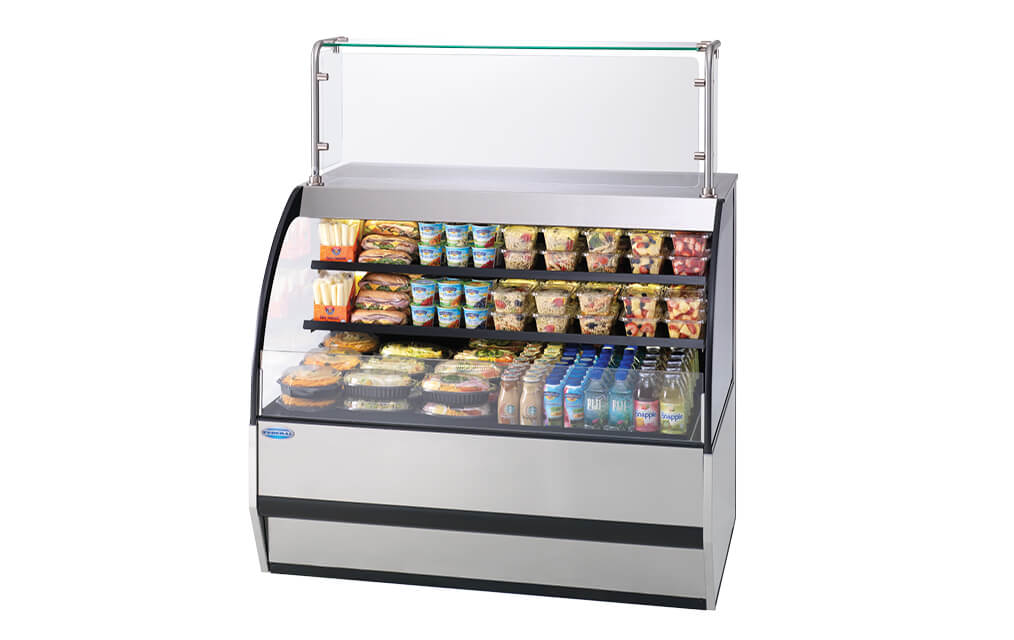 VERSATILE SERVICE TOP OVER REFRIGERATED SELF-SERVE DELI, SSRVS-5952 STAINLESS STEEL FRONT VIEW
