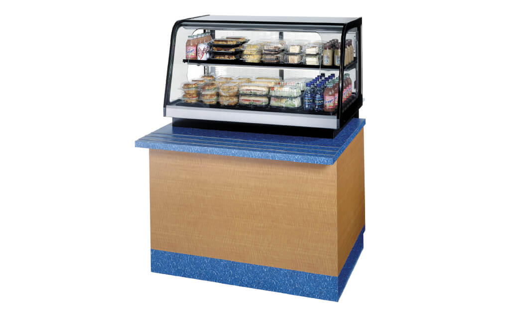 COUNTER TOP SIGNATURE SERIES REFRIGERATED SELF-SERVE MERCHANIDISER- STOCK IMAGE ON
