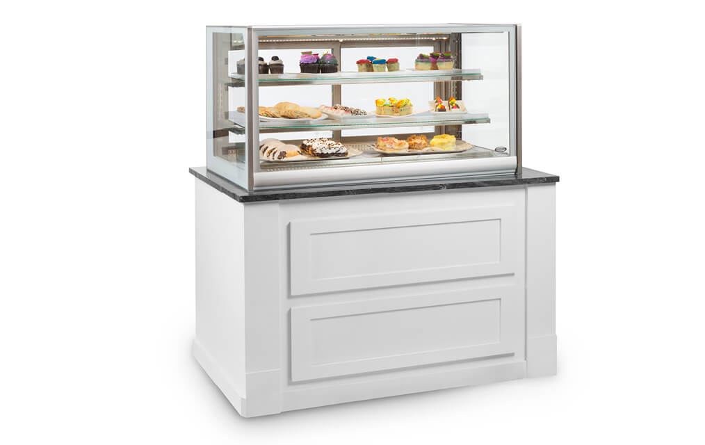 ITALIAN GLASS ITD4826 COUNTER TOP MERCHANDISER IN WHITE CABINET