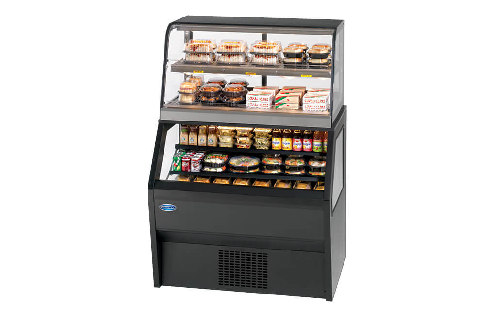 HYBRID MERCHANDISER CH3628RSS3SC MERCHANDISER-HOT OVER REFRIGERATED MERCHANDISER