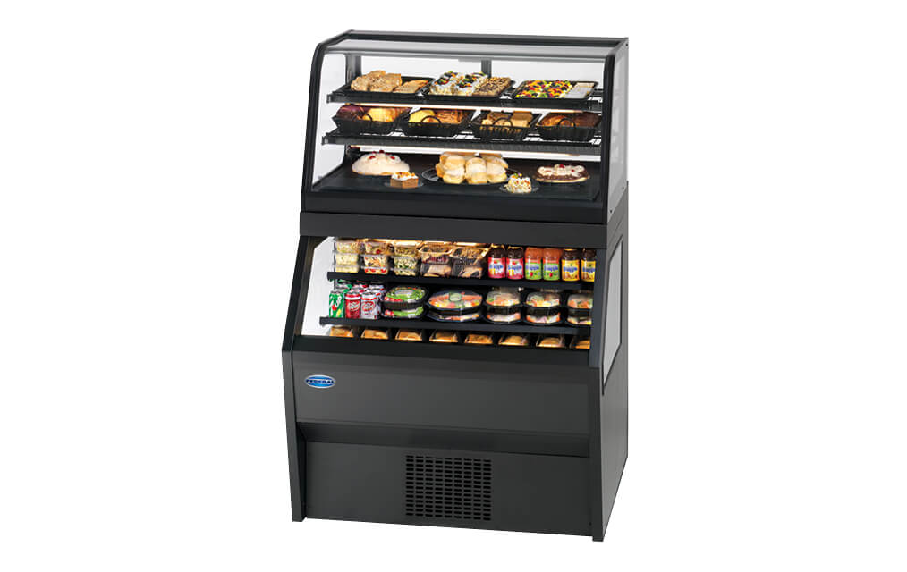 HYBRID MERCHANDISER CRR3628RSS3SC SERVICE REFRIGERATED OVER SELF SERVE REFRIGERATED
