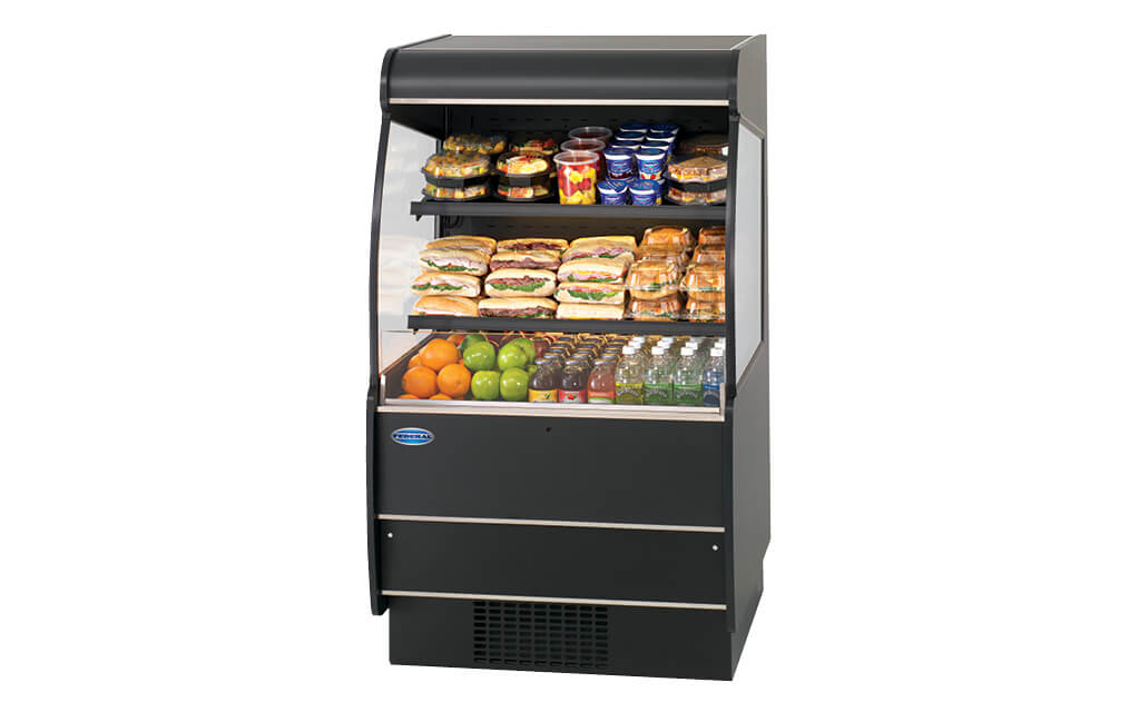 REFRIGERATED SELF-SERVE HIGH PROFILE SPECIALTY MERCHANDISER RSSM-360-SC