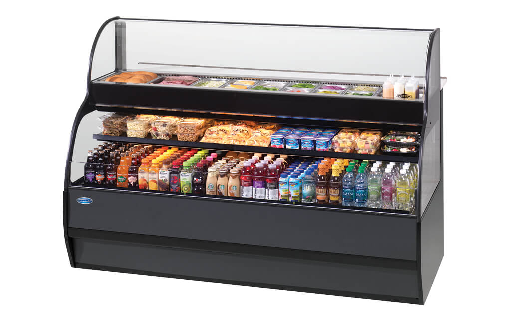 SANDWICH OR SALAD PREP OVER REFRIGERATED SELF-SERVE MERCHANDISER SSRSP-5952