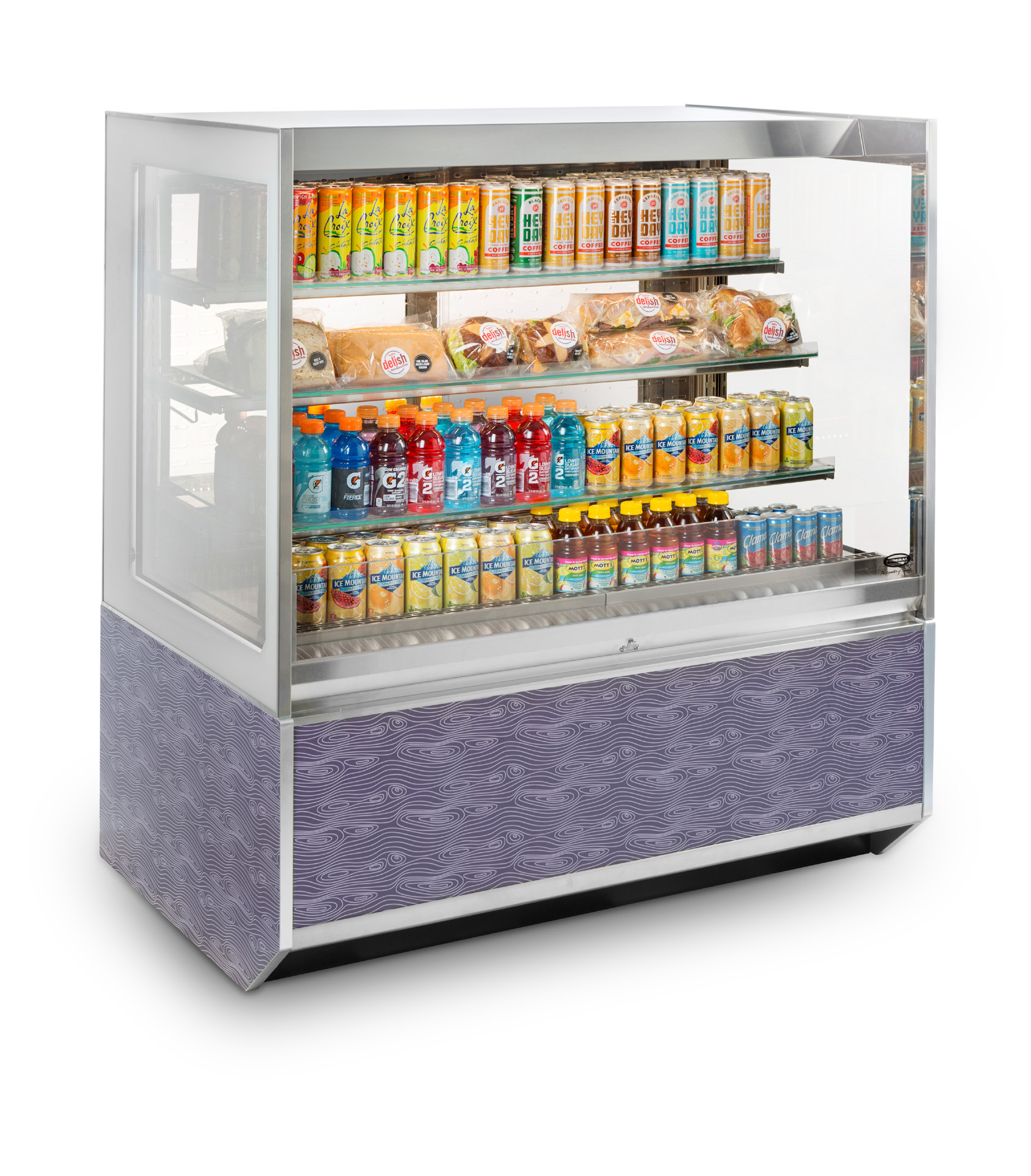 ITRSS3626-B18 Italian Glass Refrigerated Self-Serve Merchandiser